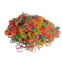 Show Tech Medium Latex Top Knot Bands Neon - 100pcs