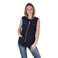 Carina Sleeveless Work Shirt - Blue Trim