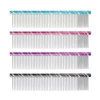 iGroom Round Steel Comb 20cm 80:20 Combination