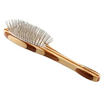 Bass Alloy Pin Grooming Brush - Medium Oval