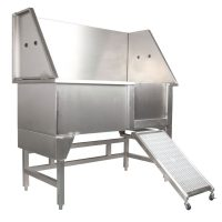 Deluxe Stainless Steel Bath with Ramp
