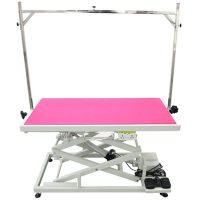 Everest Pro Tall Electric Table by Shernbao - Pink
