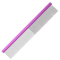 Groom Professional Spectrum Aluminium Comb 50/50 25cm - Purple