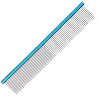 Groom Professional Spectrum Aluminium Comb 50/50 19cm - Light Blue
