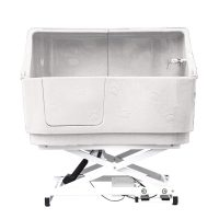 Electric Shower Bath with Splashback - Cream