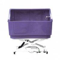 Electric Shower Bath with Splashback - Purple