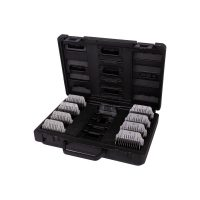 Show Tech Pro Wide SS Snap-on Comb Kit - 8 Combs + #30W Wide Blade in Carry Case
