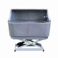 Electric Shower Bath with Splashback - Grey